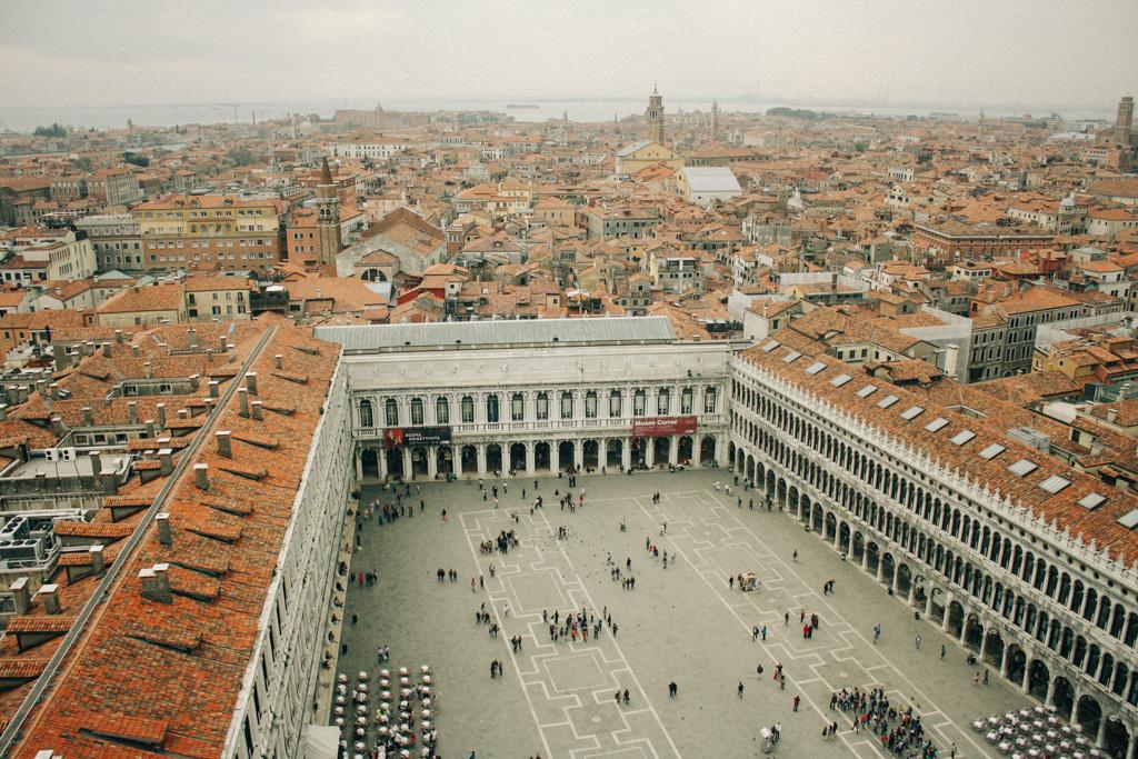 Vista da Piazza San Marco a partir do Campanile di San Marco.