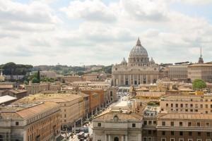 Vista do Vaticano, de cima do Castel Sant'Angelo