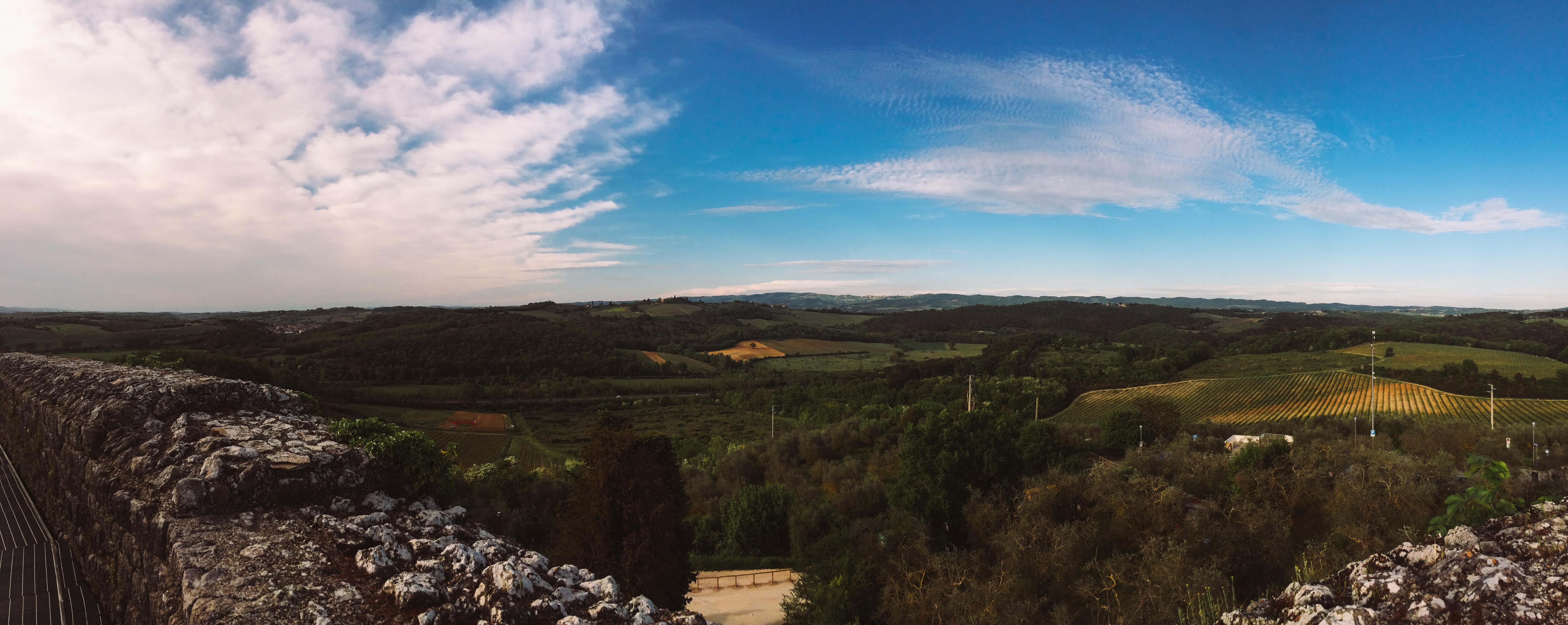 Vista dos campos Toscanos.