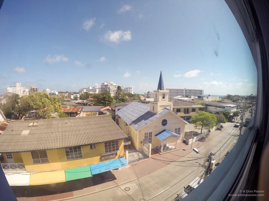 Vista da Ilha de San Andrés a partir do nosso quarto.