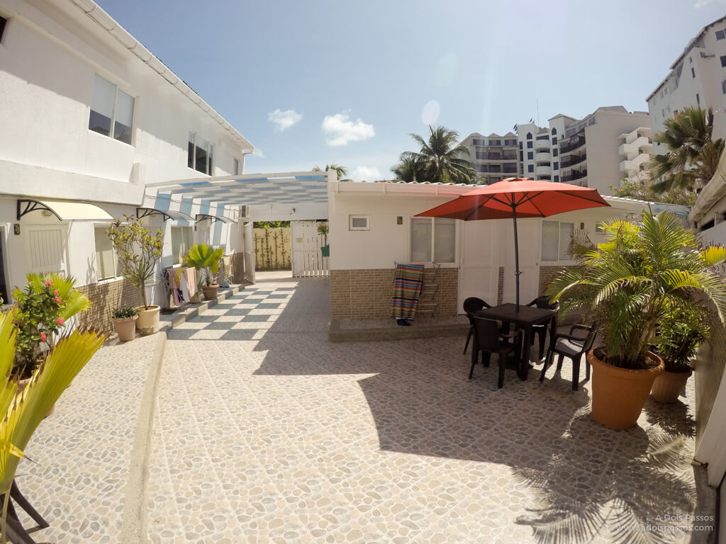 Área comum para os hóspedes na Villa San Miguel.