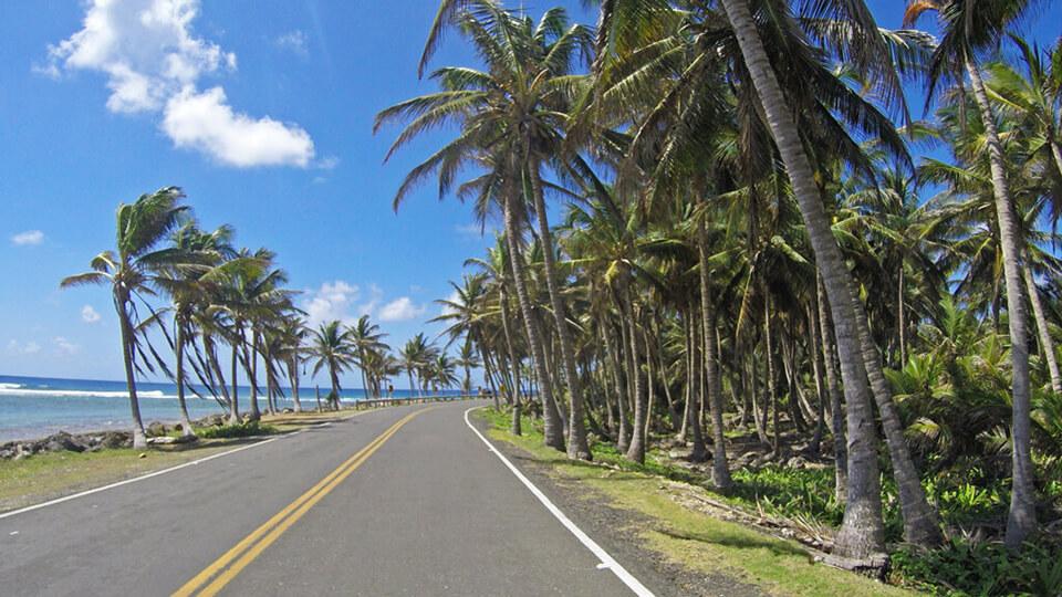 Volta de carrinho pela ilha de San Andrés