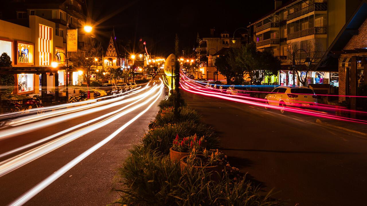 Noite em Gramado, RS.